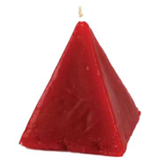 Red Cinnamon Pyramid Candle