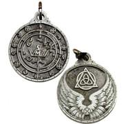 Saint Michael Silver Color Amulet