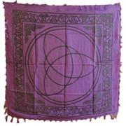 "Purple Triquetra Altar Cloth 36""x36"""