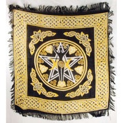 """Pentagram Goddess Altar Cloth 18"""" x 18"""""""