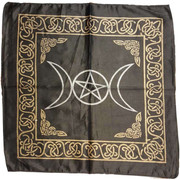 "Black Rayon Triple Moon Cloth 18""x18"""