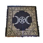 "Triple Moon Pentagram Altar Cloth 24"" x 24"""
