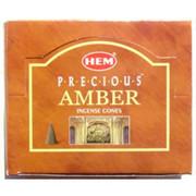 Amber HEM Incense Cones 10 pack