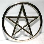 "Cut-Out Pentagram Altar Tile 5 3/4"""