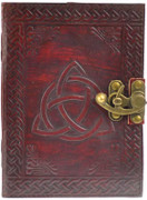 Triquetra Blank Leather Journal w/ Latch