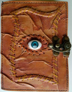 All Knowing Eye leather blank book w/ latch