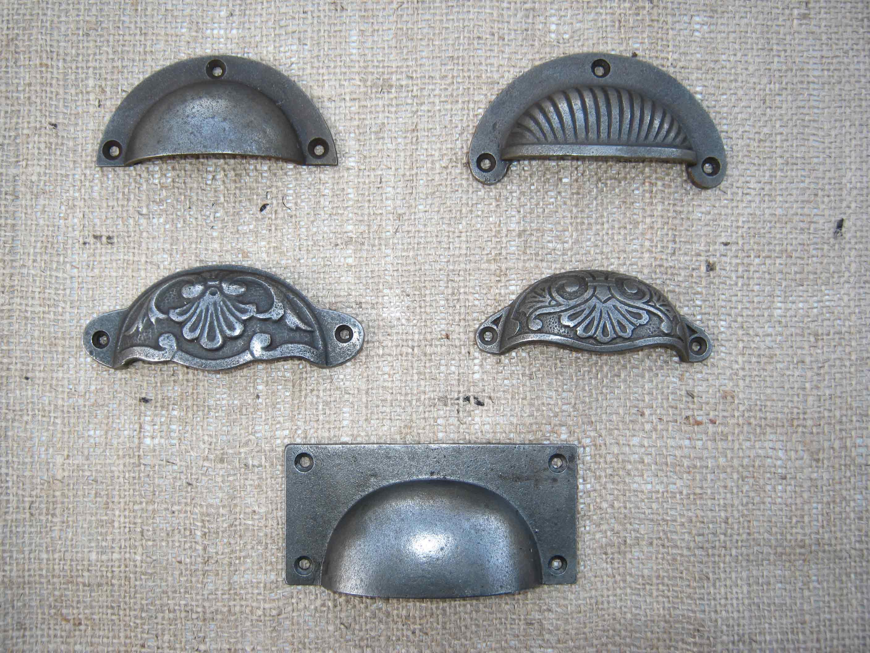 Antique Cast Iron Handles : Antique cast iron kitchen handles knobs