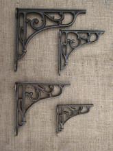 cast decorative wall bracket shelf vine brackets ornate iron bronze deep