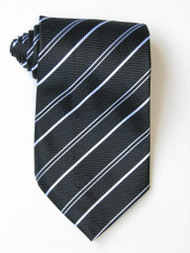 Free 2 Versus1 White Stripe Black Background Tie