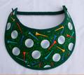 Green Golf Ball Design Flexi Visor