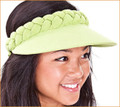 Lime Green Jumbo Peak Plaited Visor