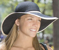 Black UPF50+ Captiva Jute Sun Hat