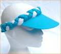 Turquoise with White Plaited Visor
