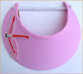 Pale Pink Jumbo Peak Flexi Visor with Sequin Dragonfly