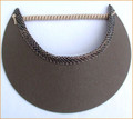 Olive Green Jumbo Peak Flexi Visor edged with Snake Pattern