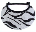 Zebra Fabric Jumbo Peak Flexi Visor with Swarovski