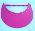 Fuchsia Jumbo Peak Flexi Visor with Swarovski