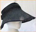 Black Raffia Wrap Around Sun Visor