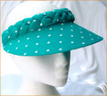 Turquoise with White Spots Jumbo Peak Plaited Visor