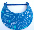 Electric Blue Beach Jumbo Peak Flexi Visor