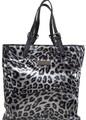 Bronze Leopard Print PU Tote Bag