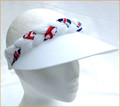 White Jumbo Peak Union Jack Plaited Visor