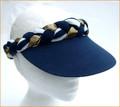 Navy Nautical Style Plaited Visor