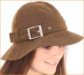 Tan Wax Hat with Silver Buckle