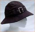 Brown Wax Hat with Silver Buckle
