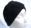 Grey Acrylic Chunky Knit Turban Hat