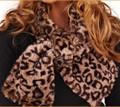 Leopard Faux Fur Muffler