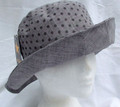 Grey Spotty Sun Hat