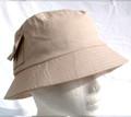 Beige UV Unisex Sun Hat with 2 pockets