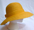 Yellow Straw Sun Hat with Bow
