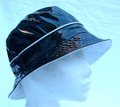 Black Patent Showerproof Hat