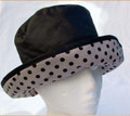 Black Wax Hat Stone background with  Black Spots