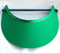 Emerald Green Flexi Visor with Swarovski Crystals