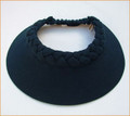 Navy  Out Of Africa Extra Large Peak Plaited Visor