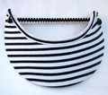White with Black Stripes Jumbo Peak Flexi Visor