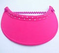 Fushcia Jumbo Peak Flexi Visor with Swarovski Pattern