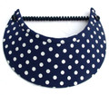 Dark Navy White Spots Jumbo Flexi Visor