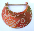 Coral/orange tone Batik Jumbo Peak Flexi Visor