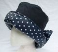 Navy with White Spots and Bow Wax Sowester