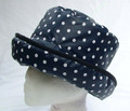 Navy with White Spots Wax Hat