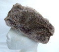 Brown Faux Fur Reversible Headband