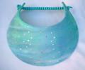 Turquoise Batik Shimmer Jumbo Flexi Visor
