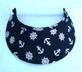 Navy Anchors Jumbo Peak Flexi Visor