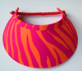 Orange & Fushsia Jumbo Peak Flexi Visor