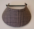 Prince of Wales Check Linen Jumbo Peak Flexi Visor