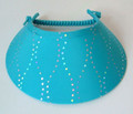 Dark Turquoise with Silver Jumbo Peak Flexi Visor
